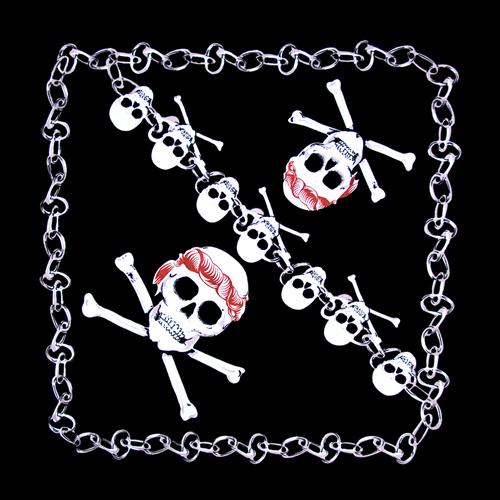 22 quot x22 quot cross bone skull bandanas dozen