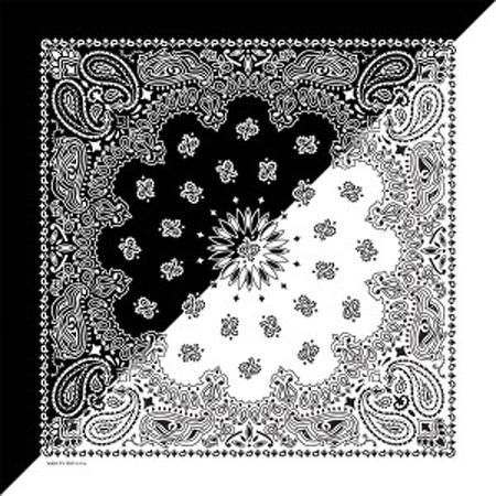22 Quot X22 Quot Split Black Amp White Paisley Bandanas Made In Usa