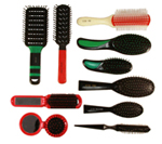plastic hair brushes
