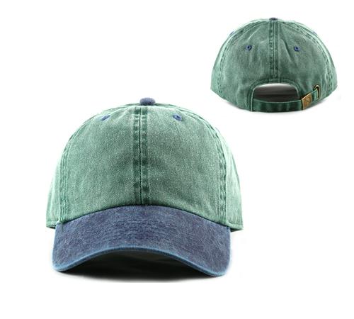 9c964db73ec65 100% Cotton Two Tone Pigment Dyed Baseball Cap NF1202 (Dozen)
