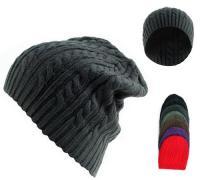 b32a4043d2d 3703023 acrylic knit beanie hats.jpg. 9 inches Long Twister Beanie Cap ( Dozen)